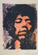 -Jimi Hendrix-  színes linómetszet
