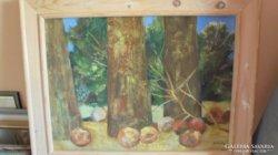 Scholz Erik: Gyümölcsfák olaj festmény