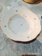 1 db Zsolnay kisvirágos leveses tányér, mélytányér (78)