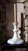 XIX. század, Herendi régi porcelán gyertyatartó, arany