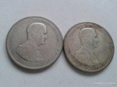 Ezüst Horthy 5 pengő, 1930-as, 2 db
