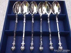 Teáskanál szett ezüstözött ananászdíszes, minőségi angol