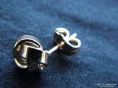 Gömb alakú csavart Gold Filled fülbevaló