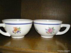 Háború elötti hüttl tivadar aquincum porcelán teás csésze 2 db