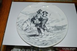 Francia porcelán tányér