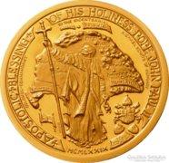 II. János Pál pápa RITKA emlékérme