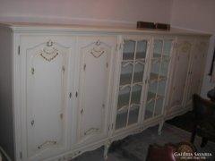 Chippendél barokk Trüggelmann nappali szekrény 305x155x40cm