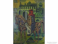 0E255 Régi arab orientalista lovag