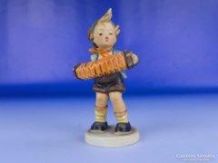 0E549 Antik Hummel porcelán zenész kisfiú TMK 3