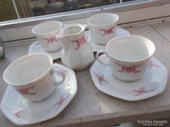 Porcelán 4 személyes teás-készlet
