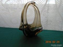 Muránói szeccesziós kosár/kínáló-19x15 cm,-735 g