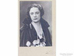 0E792 Antik RÓNAI fotográfia Blondel keretben 1926