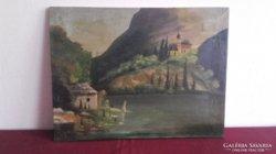 Templom a hegyen Háry Gyula szignójával.