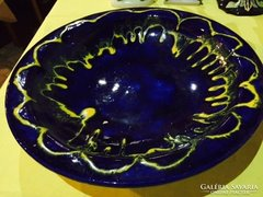 Iparművészeti, jelzett kerámia falitál (15)- signed art bowl