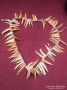 Dél-Afrikai ABALONE készült női nyaklánc