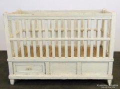 0E201 Antik fehér fenyő gyerekágy