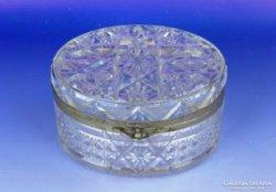 0E415 Gyönyörű extra nagyméretű üveg bonbonier