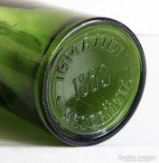 Igmándi keserűvíz 1863 feliratú zöld üveg