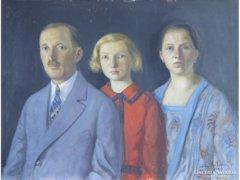 0E290 Jelzett családi portré 1929-ből