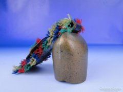 0E526 Bőr szíjas réz kolomp díszkolomp