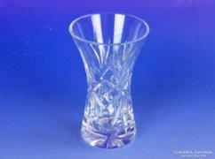 0E606 Csiszolt jelzett kristály váza AJKA CRYSTAL