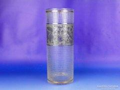 0E520 Nagyméretű vastagfalú Art deco üvegváza 25cm