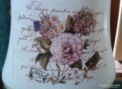 Rózsás kerámia váza - dobozában