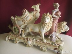 Royal Wienna fajansz életkép a XIX. századból