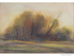 0E698 Bera Sándor : A rét fák ősszel 1990
