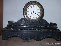 Ritka Márvány kandalló óra 1800-as évek impozáns antik db