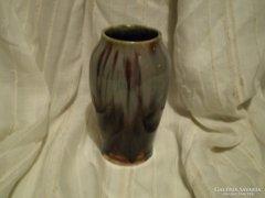 Kerámia: Lefolyó mázas váza