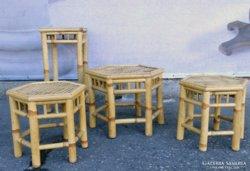 0E080 Négydarabos rattan teázó bútor szett