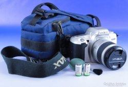 0E169 MINOLTA 404SI analóg fényképezőgép tokjában