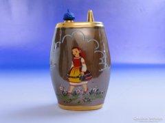 0E463 Régi jelzett orosz porcelán ivókulacs