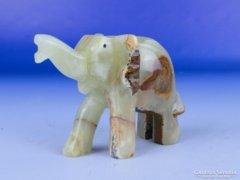 0E530 Szerencsehozó ónix elefánt szobor
