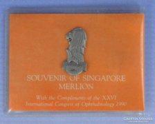 0E578 Szingapúri kitűző tokban SINGAPORE MERLION