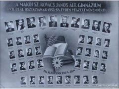 0E659 Régi makói tablókép 1953-54
