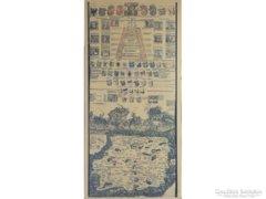 0E812 Antik hatású térkép másolat 1518