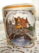 Delft-i kézzel festett fajansz cukorka- vagy keksztartó