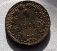 1 krajcár - 1881 Ausztria