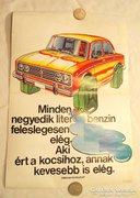 Retró Lada Zsiguli plakát