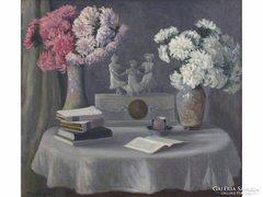 Conrád Gyula : Csendélet asztali órával 1908