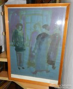 Lipták Pál festménye eredeti festménye gyönyörű antik keret