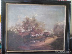 Mayer Alajos 1878-1953  EREDETI olaj festménye