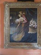 Antik hatalmas méretű olajfestmény, Szécsi András alkotása
