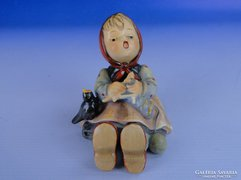 0E737 Antik Hummel horgoló kislány TMK 1