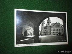 Régi Birodalmi képeslap-Berchtesgaden Templom-Iskola