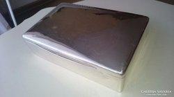 Ezüst doboz gyönyörű hibátlan, egyszerű sima letisztult darab 434.3 gramm