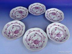 0E643 Régi VOLKSTEDT porcelán süteményes készlet