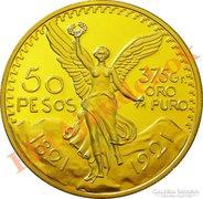 50 peso - aranyozott replika érme